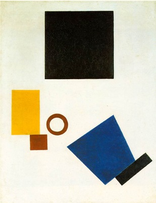 Malevitj Suprematism Self Portrait in Two Dimensions 1915,