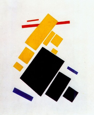 malevich airplane flying suprematist painting
