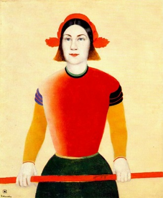 malevich girl with red pole 1932