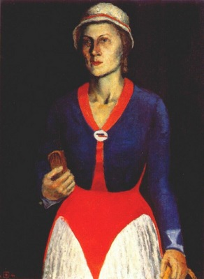 malevich portrait of the artists wife