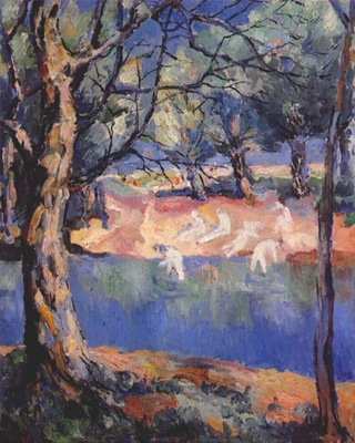 malevich river in the forest c1908 or