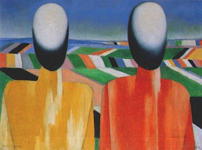 malevich two peasants 1928