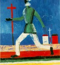 Malevitj Running Man 1932 34 Oil on canvas 79 x 65 cm  Mus