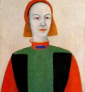 malevich head of a young girl of today