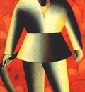 malevich reaper on red background 1912