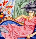 rozanova lady in pink artists sister anna rozanova