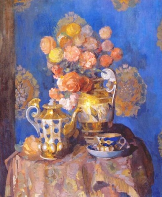 sapunov still life with vase and flowers