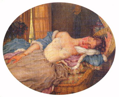 somov young woman asleep