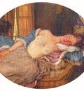 somov young woman asleep