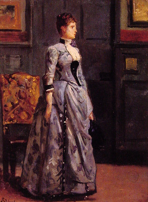Portrait of a woman in blue