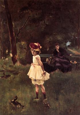 Stevens A La Fillette au Canard