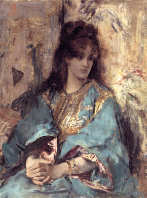 Stevens A Woman Seated in Oriental Dress