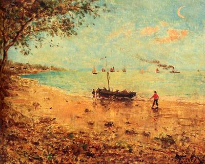 Stevens Alfred Une Plage En Normandie