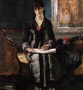 Stevens Alfred Portrait of a Young Woman
