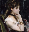 Stevens Alfred Woman Wearing a Bracelet