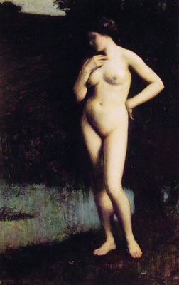 Standing Nude Before the Lake