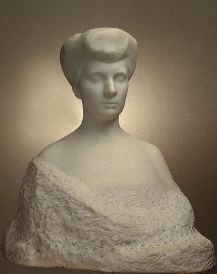 Rodin Auguste Portrait of Varvara Yeliseyeva