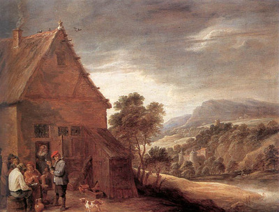 TENIERS David the Younger Before The Inn