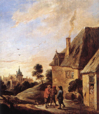 teniers david the younger village scene