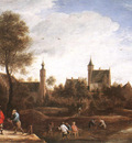 TENIERS David the Younger A View Of Het Sterckshof Near Antwerp