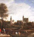 TENIERS David the Younger A View Of Het Sterckshof Near Antwerp