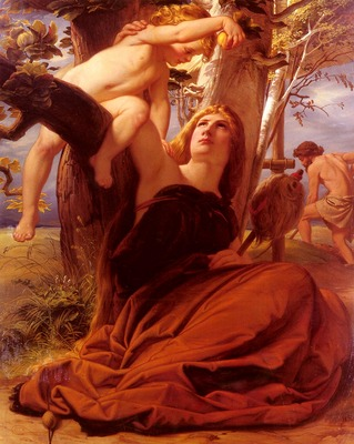 Steinle Eduard Jakob von Adam And Eve After The Fall