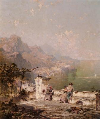 Unterberger Franz Richard Amalfi The Gulf Of Salerno