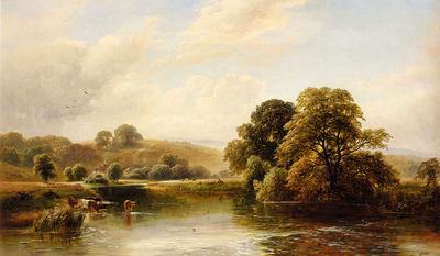 Turner George The Trent Near Ingleby