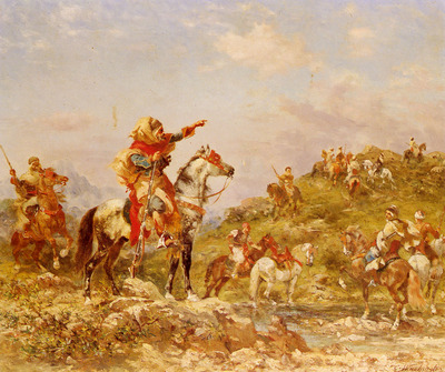 Washington Georges Arab Warriors On Horseback