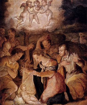 Vasari Giorgio The Nativity With The Adoration Of The Shepherds