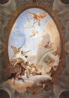Tiepolo Allegory of Merit Accompanied by Nobility and Virtue