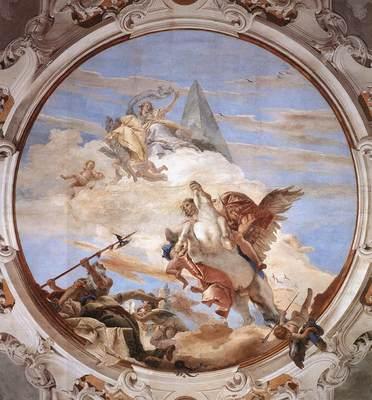 Tiepolo Palazzo Labia Bellerophon on Pegasus