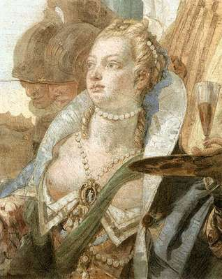 Tiepolo Palazzo Labia The Banquet of Cleopatra detail2