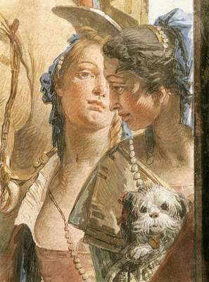Tiepolo Palazzo Labia The Banquet of Cleopatra detail6