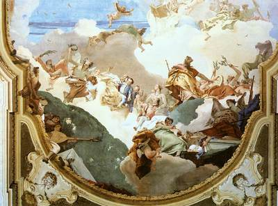 Tiepolo The Apotheosis of the Pisani Family detail2