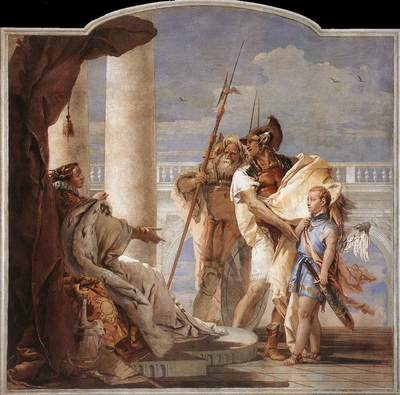 Tiepolo Villa Valmarana Aeneas Introducing Cupid Dressed as Ascanius to Dido