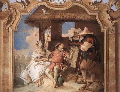 Tiepolo Villa Valmarana Angelica and Medoro with the Shepherds