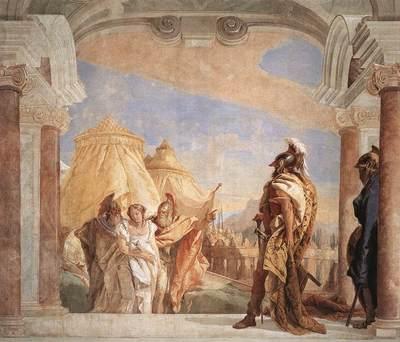Tiepolo Villa Valmarana Eurybates and Talthybios Lead Briseis to Agamemmon