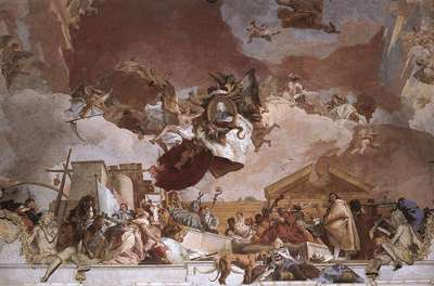 Tiepolo Wurzburg Apollo and the Continents detail8