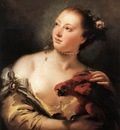Tiepolo Woman with a Parrot