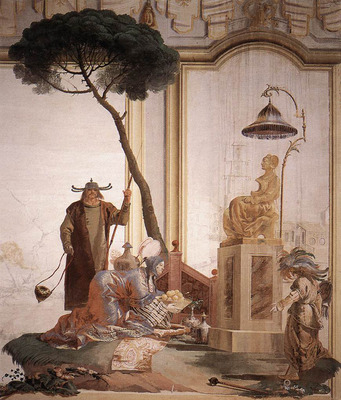 TIEPOLO Giovanni Domenico Offering Of Fruits To Moon Goddess