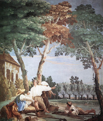 TIEPOLO Giovanni Domenico Peasants At Rest