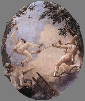 TIEPOLO Giovanni Domenico The Swing Of Pulcinella