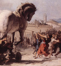 TIEPOLO Giovanni Domenico The Procession Of The Trojan Horse In Troy