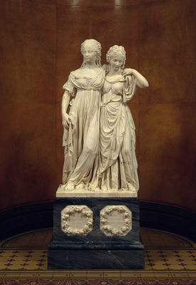 double statue of the princess luise and friederike of prussia