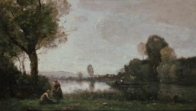 seine landscape near chatou
