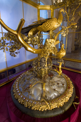 the peacock clock