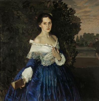 lady in blue portrait of ye m martynova