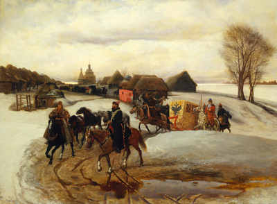 the spring pilgrimage of the tsarina under tsar aleksy mihailovich