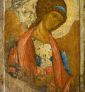 archangel michael from the deisus chin row zvenigorodsky